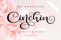 Cinchin - Lovely Script Font Product Image 1