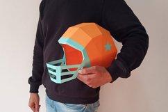 DIY Football Helmet - 3d papercraft Product Image 4