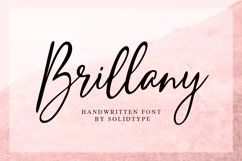Brillany - Handwritten Font Product Image 1