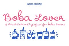 Boba Lover Script Font Product Image 1