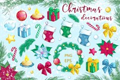 Christmas decorations. Stickers, patterns, compositions. Product Image 2