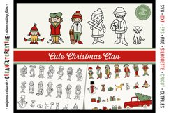Cute Christmas Clan - Family Characters svg cutfiles vector Product Image 1