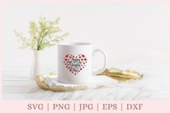Valentine heart SVG, Happy Valentine's Day SVG Product Image 2