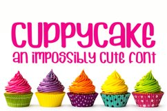 Cuppycake - an impossibly cute font Product Image 1