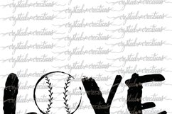 Love Baseball SVG, DXF, PNG Product Image 4