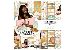Afroamerican Planner Girl Afroamerican Digital Paper Pack Product Image 1
