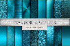Teal metallic foil textures Product Image 1