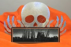 Halloween Frame Mock Up / Picture Frame Mockup PNG, JPG, PSD Product Image 3