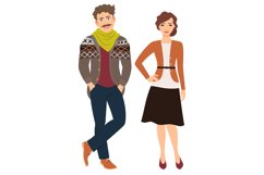 Fashion couple in casual clothes Product Image 1