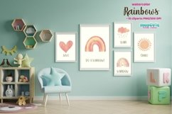 Watercolor Rainbows Clipart Product Image 2