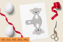 Cute Koala Chocolate Egg Holder Design, Print and Cut Product Image 1