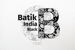 Batik India Black Font Product Image 1