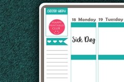 Sick Day Script Words Planner Stickers- Sick Day Stickers Product Image 2