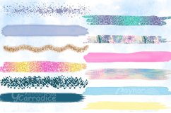 Mermaid paint brush strokes collection Product Image 2