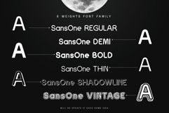 Sans One Font family Product Image 4