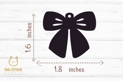 Bow Earrings SVG, Ribbon Earrings svg template, bow svg Product Image 3