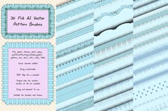 31 Sewing Vector AI Frill Pattern Brushes - Ruche and Folds Product Image 1