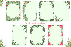Watercolor Floral Frames Card Borders Backgrounds,Clipart Product Image 3