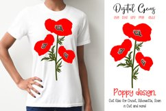 Poppy flowers SVG / EPS / DXF / PNG files Product Image 1