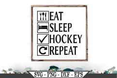 Eat Sleep Hockey Repeat SVG Product Image 1