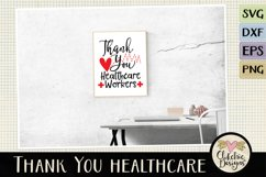 Thank You Healthcare Workers SVG - Healthcare Heroes Product Image 4