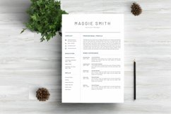 NEW Professional RESUME TEMPLATE BONUS Cover Letter Product Image 1