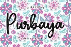 Purbaya Brush Script Typeface Product Image 1