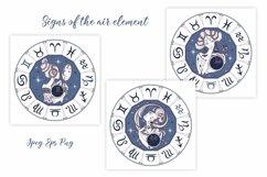 Zodiac. Beautiful girls in the zodiac signs. Digital clipart Product Image 5