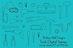 Tools Digital Stamps Clipart Product Image 1