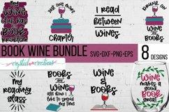 Book Wine Bundle SVG, DXF, PNG, EPS Product Image 1