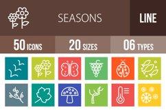 50 Seasons Line Multicolor B/G Icons Product Image 1