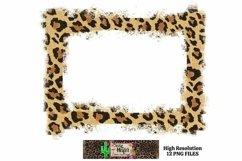 Leopard Grunge Background Frames for Dye Sublimation PNG Product Image 6