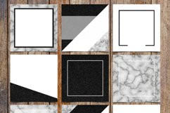 Marble and Black Glitter Instagram Template Pack Product Image 1