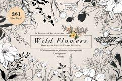 WILD FLOWERS Illustration Botanical Product Image 1