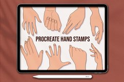 Procreate Hands Stamp Brushes, Guide Brushes Product Image 1