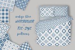 Tie dye pattern blue | Indigo Japanese shibori | 40 elements Product Image 2