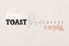 Toast Bread Coffee Typeface Product Image 2