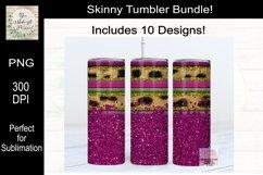 Leopard, Serape and Glitter Sublimation Tumbler Bundle Product Image 6