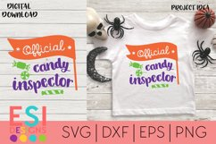 Halloween SVG |Official Candy Inspector| SVG cut files Product Image 1