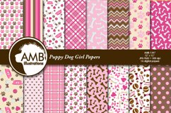 Puppy Dog Girl Papers AMB-1387 Product Image 1