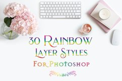 Rainbow Layer Styles - Set of 30 Styles for Photoshop Product Image 1