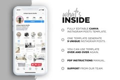 Interior Designer Instagram Posts Template | CANVA Product Image 5