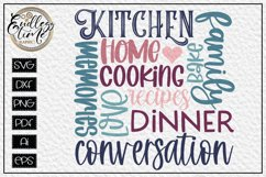 Kitchen Subway Art Sign SVG - A Kitchen Word Collage Product Image 2