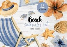 Watercolor Beach Set Clip Art Product Image 1