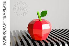 PDF Template of Apple fruit papercraft template / 3D craft Product Image 5