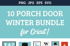 10 Christmas Porch door signs bundle, welcome signs Product Image 3
