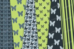 Green, gray seamless butterflies digital paper Product Image 3
