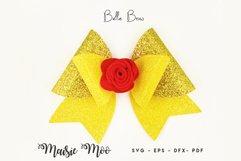 Princess Bow SVG, Crown Bow Template SVG, Tiara Hair Bow, Product Image 3