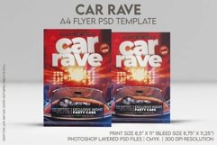 Car Rave A4 Flyer PSD Template Product Image 1