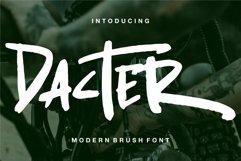 Web Font Dacter - Modern Brush Font Product Image 1
